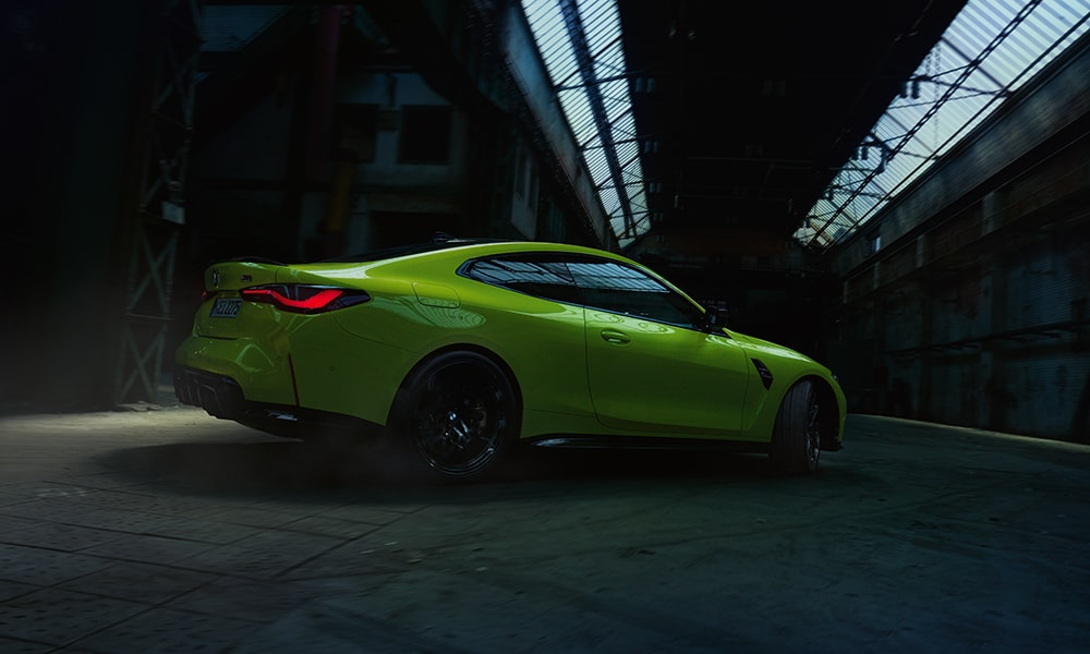 The All-New BMW M4 in an empty warehouse